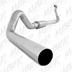 "MBRP - MBRP 94-97 Ford 7.3L 4"" Turbo Back, Single (Aluminized 3"" downpipe), AL"