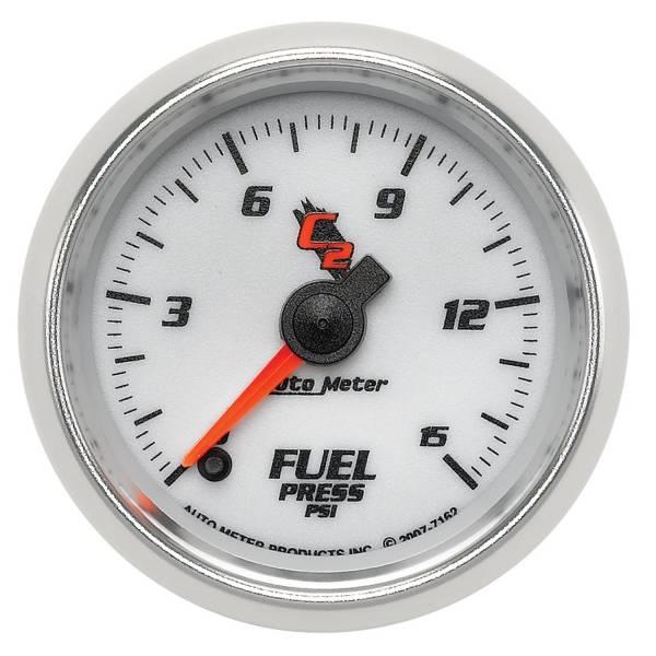 """Auto Meter - AutoMeter C2 Digital 2-1/16"""" 0-15 PSI Fuel Pressure"""