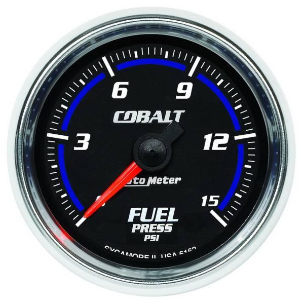 "Auto Meter - AutoMeter Cobalt Digital 2-1/16"" 0-15 PSI Fuel Pressure"
