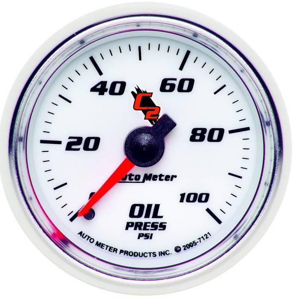 "Auto Meter - AutoMeter C2 Mechanical 2-1/16"" 0-100 PSI Oil Pressure"