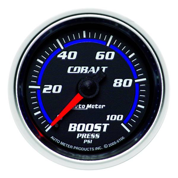 "Auto Meter - AutoMeter Cobalt Mechanical 2-1/16"" 0-100 PSI Boost"