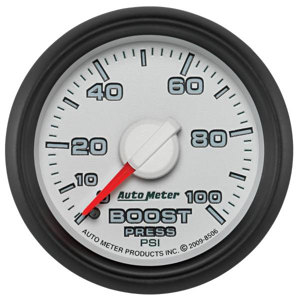 "Auto Meter - AutoMeter Dodge 3rd Gen Factory Match Mechanical 2-1/16"" 0-100 PSI Boost"