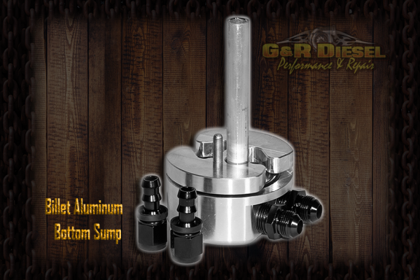 G&R Diesel - Billet Aluminum Bottom Sump W/ Integrated Return