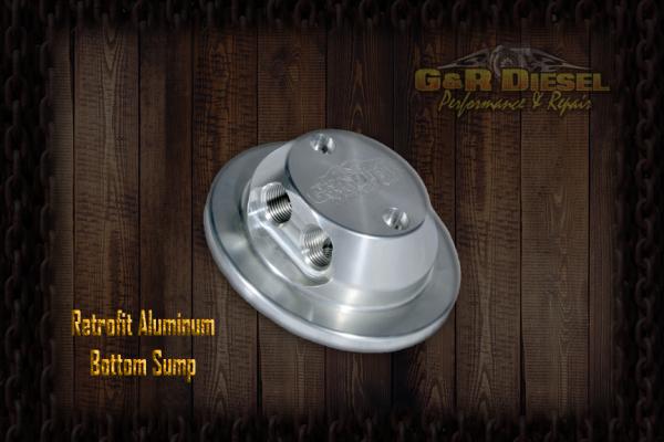 G&R Diesel - Bolt-In Retrofit Billet Aluminum Bottom Sump W/ Return