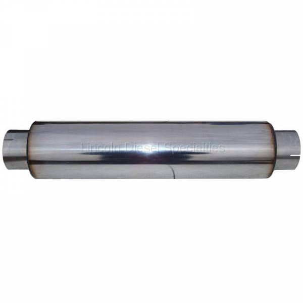 "MBRP - MBRP Universal Muffler 4' Inlet 4"" Outlet 24"" Body,T304 Stainless, 30"" Overall Length"