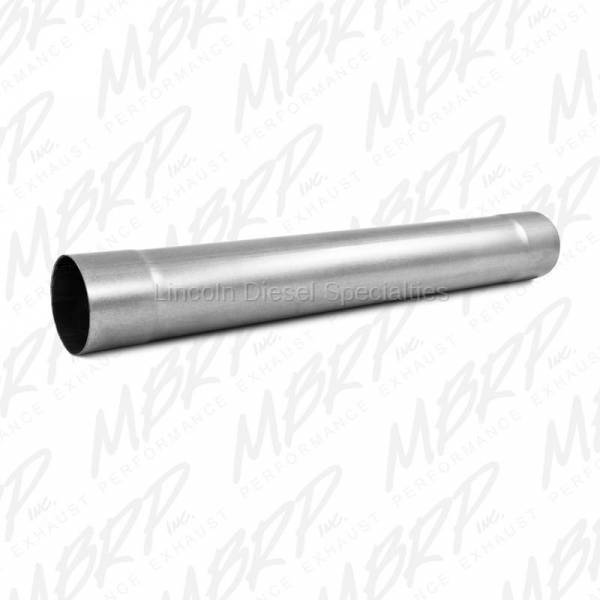 """MBRP - MBRP Universal 4"""" Muffler Delete Pipe  4"""" Inlet /Outlet 30"""" Overall Length , Aluminized Steel"""