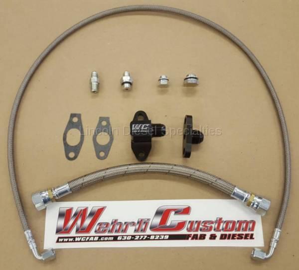 WCFab - Wehrli Custom Fab Single Turbo Oil Line Kit (2001-2010)