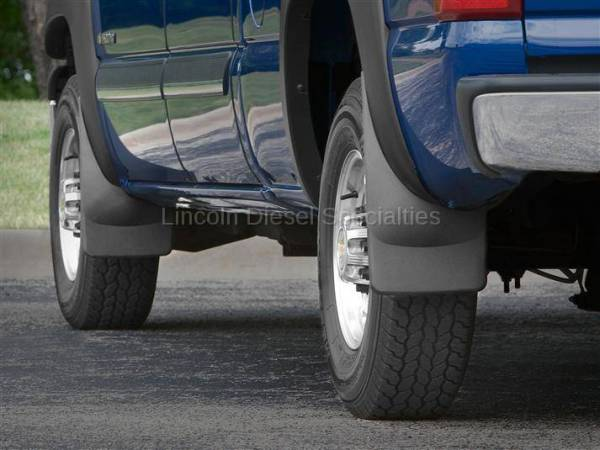 WeatherTech - WeatherTech Mud Flap Front and Rear, Flared Fender/Lip Trim, Fenders Laser Fitted, 2001-2007