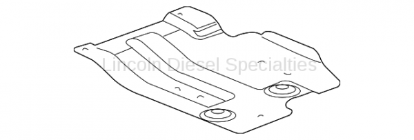GM - GM OEM Replacement Engine Skid Plate (2001-2010)