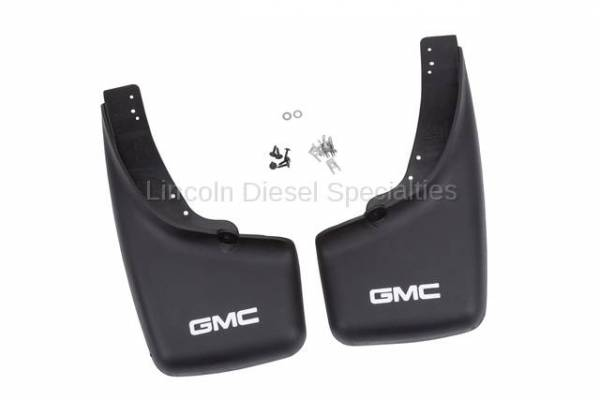 "GM - GM OEM ""GMC Logo"" Rear Mudflaps for OEM Flares (2001-2007)"