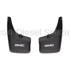 "GM - GM OEM ""GMC Logo"" Rear Mudflaps for OEM W/O Flares (2001-2007)"