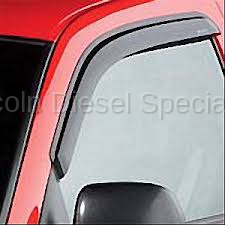 GM - GM Accessories Window Weather Deflectors in Smoke Black ,Front Driver & Passenger Side (2001-2007)