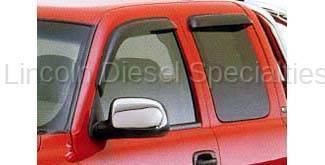 GM - GM Accessories Window Weather Deflectors in Smoke Black , Front & Back for Extended Cab (2001-2007)