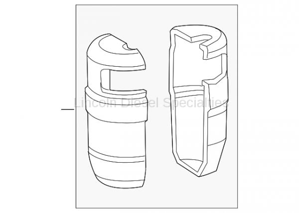 GM - GM OEM Air Conditioning Accumulator Cover (LH) 2007.5-2014