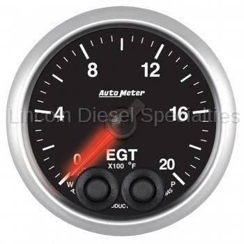 "Auto Meter - Auto Meter Designer Black Series Water Temp. 2-1/16"", 100-250 °F (Universal)"