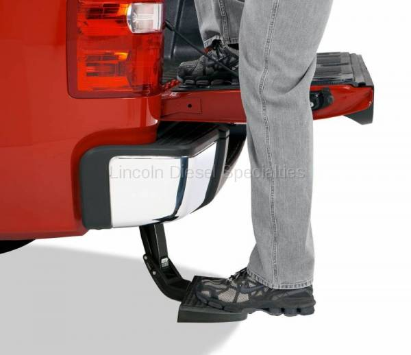 AMP RESEARCH - AMP RESEARCH BedStep Retractable Bumper (Excludes Dual Exhaust & EcoDiesel Models) 2010-2019