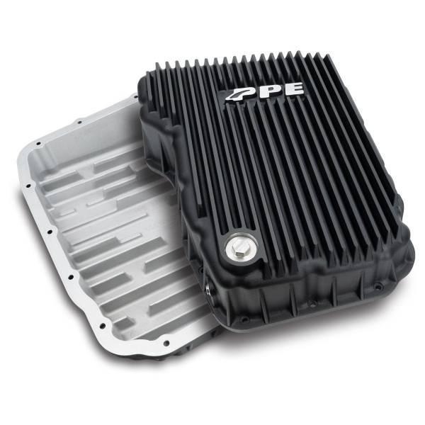 Pacific Performance Engineering - PPE Dodge/Cummins Transmission Pan 68RFE Flat Bottom (Black) (2007.5-2021)
