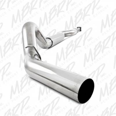 "Exhaust - Exhaust Systems - MBRP - MBRP 01-05 Duramax, EC/CC 5"" Cat Back Single T409"
