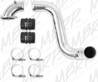 "2003-2004 24 Valve, 5.9L Early - Intercoolers and Pipes - MBRP - MBRP 05-07 6.0L 3"" Driver Side Intercooler Pipe, polished alum."
