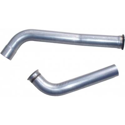 "Exhaust - Downpipes - MBRP - MBRP 03-07 6.0L, EC/CC 4"" downpipe (Stock Cat) black coated"