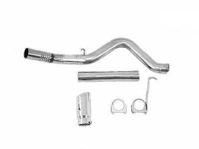 "Exhaust - Exhaust Systems - MBRP - MBRP 11-14 Duramax 4"" Filter Back, Single Side & Turbo Down Pipe, T409"
