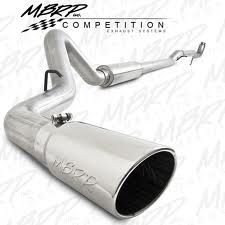 "Exhaust - Exhaust Systems - MBRP - MBRP 11-14 Duramax 4"" Downpipe Back, Single Side, w/o Bungs, w/Muffler, AL"
