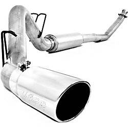 "Exhaust - Exhaust Systems - MBRP - MBRP 94-02 Cummins 4"" Turbo Back, Single Side, AL"