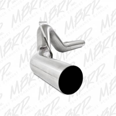 "Exhaust - Exhaust Systems - MBRP - MBRP 07-09 Cummins 6.7L 5"" Filter Back, Single, AL"