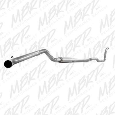 "Exhaust - Exhaust Systems - MBRP - MBRP 88-93 Cummins 4"" Turbo Back, Single (4WD only), AL"