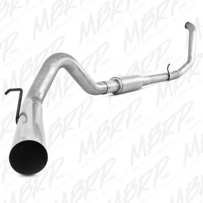 "Exhaust - Exhaust Systems - MBRP - MBRP 99-03 Ford 7.3L 4"" Turbo Back Single, AL"