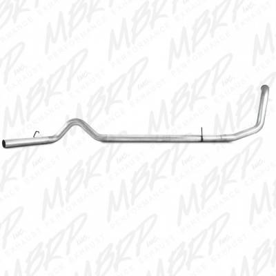 "Exhaust - Exhaust Systems - MBRP - MBRP 99-03 Ford 7.3L 4"" Turbo Back Single w/o muffler, AL*"