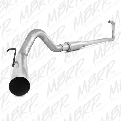 "Exhaust - Exhaust Systems - MBRP - MBRP 03-07 Ford 6.0L 4"" Turbo Back, Single, AL"