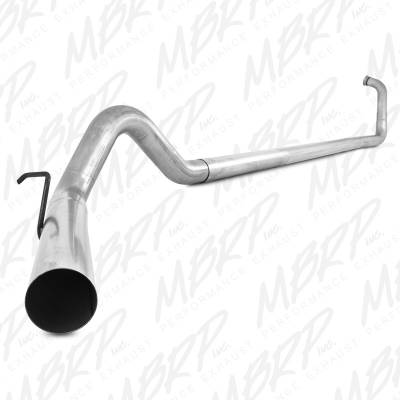 "Exhaust - Exhaust Systems - MBRP - MBRP 03-07 Ford 6.0L 4"" Turbo Back, Single, w/o muffler, AL"