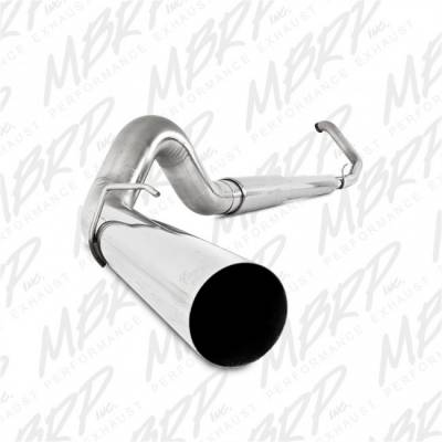 "Exhaust - Exhaust Systems - MBRP - MBRP 99-03 Ford 7.3L 5"" Turbo Back, Single, T409"