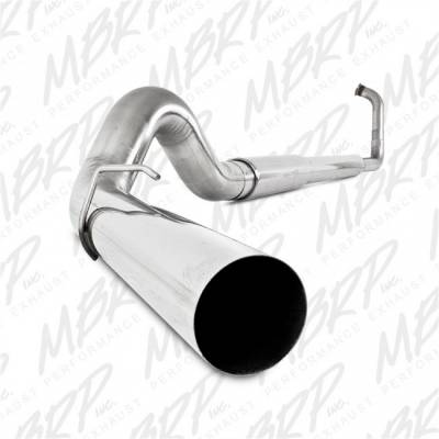 "Exhaust - Exhaust Systems - MBRP - MBRP 03-07 Ford 6.0L, EC/CC 5"" Turbo Back, Single, AL"