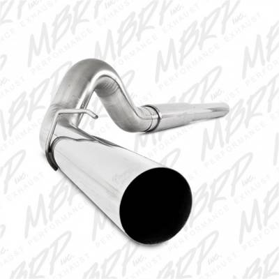 "Exhaust - Exhaust Systems - MBRP - MBRP 03-07 Ford 6.0L, EC/CC 5"" Cat Back, Single, AL"