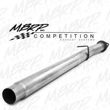 "Exhaust - Exhaust Systems - MBRP - MBRP 08-10 Ford 6.4L 4"" Cat and DPF Delete Pipe, w/o Bungs, AL"