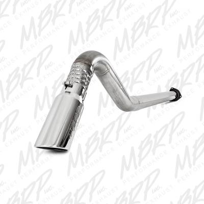 "Exhaust - Exhaust Systems - MBRP - MBRP 11-14 Ford 6.7L 4"" Filter Back, Single Turn Down, T409"