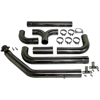 "Exhaust - Exhaust Systems - MBRP - MBRP 94-02 Cummins 4"" Turbo Back Dual SMOKERS, T409"