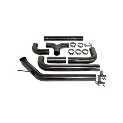 """Exhaust - Exhaust Systems - MBRP - MBRP 03-04 Cummins 4"""" Turbo Back Dual SMOKERS, T409"""