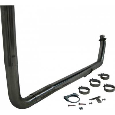 "Exhaust - Exhaust Systems - MBRP - MBRP 94-02 Cummins 5.9L 4"" Turbo Back, Single SMOKERS, T409"