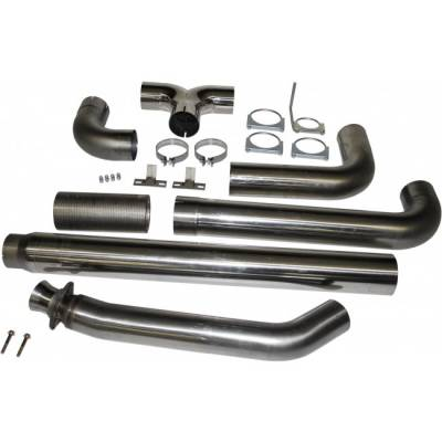 "Exhaust - Exhaust Systems - MBRP - MBRP 94-02 Cummins 5.9L 5"" Turbo Back, Dual SMOKERS, T409"