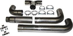 """Exhaust - Exhaust Systems - MBRP - MBRP 04.5-07.5 Cummins 5"""" Cat Back, Dual SMOKERS, T409"""