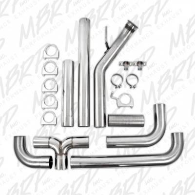 """Exhaust - Exhaust Systems - MBRP - MBRP 04.5-07 Cummins 4"""" Turbo Back, Dual SMOKERS, AL*"""