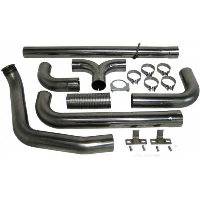 "Exhaust - Exhaust Systems - MBRP - MBRP 99-03 Ford 7.3L 4"" Turbo Back Dual SMOKERS, T409"