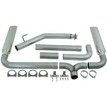 "Exhaust - Exhaust Systems - MBRP - MBRP 94-02 Cummins 4"" Turbo Back Dual SMOKERS, T409 (incl. B1610 stacks)"