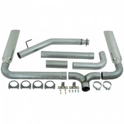 "Exhaust - Exhaust Systems - MBRP - MBRP 99-03 Ford 7.3L 4"" Turbo Back, SMOKERS, T409 (incl. B1610 stacks)"