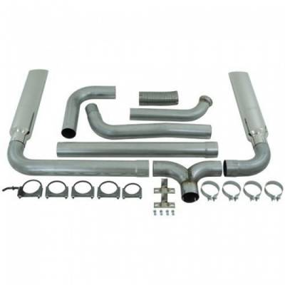 "Exhaust - Exhaust Systems - MBRP - MBRP 03-07 Ford 6.0L 4"" Turbo Back, SMOKERS, AL (incl. B1610 stacks)"
