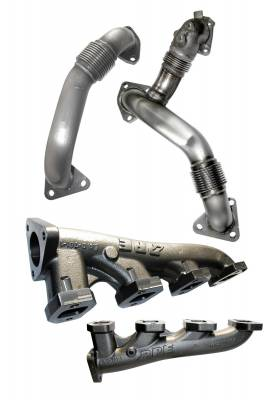 Exhaust - Manifolds & Up Pipes - Pacific Performance Engineering - PPE Manifolds & Up-pipes GM 11-14 LML w/EGR Riser