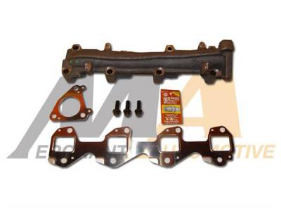 Exhaust - Exhaust Manifolds - Merchant Automotive - 01-10 Duramax MAX Flow Left Manifold Upgrade Kit